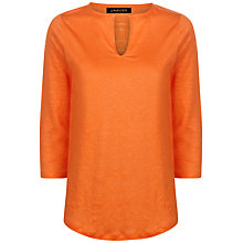 Buy Jaeger Linen Jersey T-Shirt Online at johnlewis.com