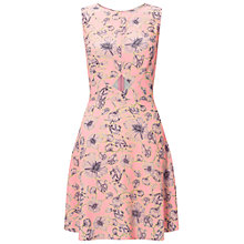 Buy Miss Selfridge Floral Print Skater Dress, Pink Online at johnlewis.com