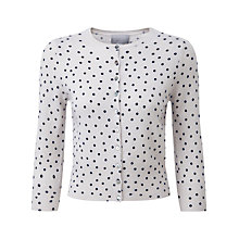 Buy Pure Collection Katrina Crop Cardigan, Whisper/ Navy Online at johnlewis.com