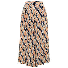 Buy Whistles Diamond Print Silk Culotte, Pink/Multi Online at johnlewis.com