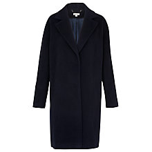 Buy Whistles Dara Drawn Cocoon Coat, Navy Online at johnlewis.com