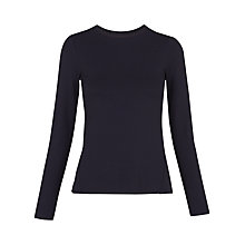 Buy Whistles Open Back Ponte Top, Navy Online at johnlewis.com