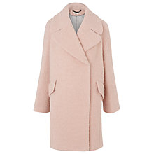 Buy Whistles Penny Double Breasted Coat, Pale Pink Online at johnlewis.com