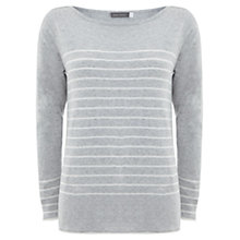 Buy Mint Velvet Stripe Jumper, Silver Grey/Ivory Online at johnlewis.com
