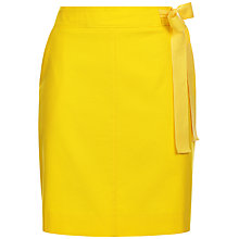Buy Jaeger Casual Belted Skirt, Yellow Online at johnlewis.com