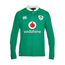 Buy Canterbury of New Zealand Ireland Home Classic Long Sleeve Rugby Shirt, Green Online at johnlewis.com