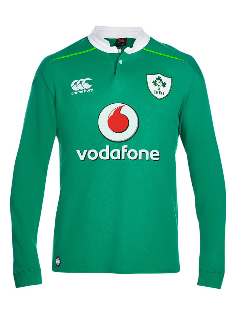 Canterbury of New Zealand Canterbury of New Zealand Ireland Home Classic Long Sleeve Rugby Shirt, Green