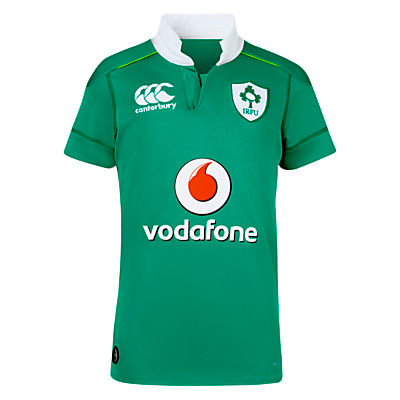 Canterbury of New Zealand Boys' Ireland Home Pro Rugby Shirt, Green