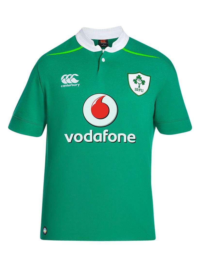 Canterbury of New Zealand Canterbury of New Zealand Vapodri Ireland Home Short Sleeve Rugby Shirt, Green