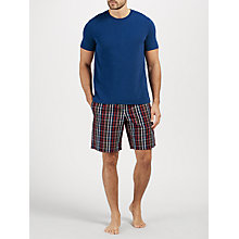 Buy John Lewis Nott T-Shirt and Check Shorts Lounge Set, Navy Online at johnlewis.com