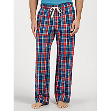 Buy John Lewis Stockbridge Check Lounge Pants, Blue/Red Online at johnlewis.com