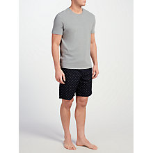 Buy John Lewis T-Shirt and Triangle Print Shorts Lounge Set, Grey/Navy Online at johnlewis.com