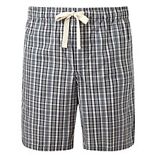 Buy John Lewis Hook Check Lounge Shorts, Grey Online at johnlewis.com