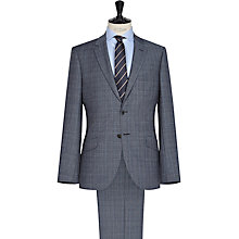 Buy Reiss Monroe Check Wool Modern Fit Suit, Blue Online at johnlewis.com