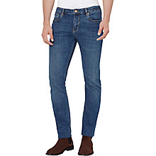 Buy Reiss Clash Mid Wash Slim Jeans, Mid Blue Online at johnlewis.com