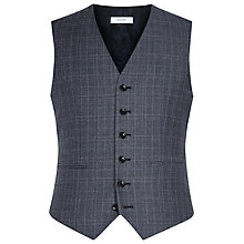 Buy Reiss Monroe Check Wool Modern Fit Waistcoat, Blue Online at johnlewis.com