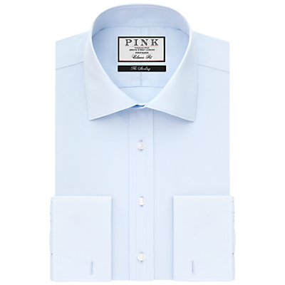 Image of Thomas Pink Frederick Plain Classic Fit Double Cuff Shirt