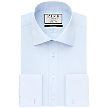 Buy Thomas Pink Frederick Plain Classic Fit Double Cuff Shirt, Pale Blue Online at johnlewis.com