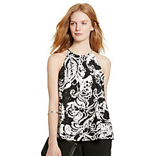 Buy Lauren Ralph Lauren Annamarie Top, Black/Pearl Online at johnlewis.com