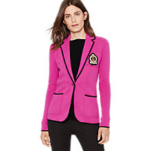 Buy Lauren Ralph Lauren Dintin Blazer, Wild Berry/Black Online at johnlewis.com