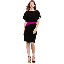 Buy Lauren Ralph Lauren Lea 2-Tone Dress, Black/Cosmopolitan Pink Online at johnlewis.com