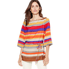 Buy Lauren Ralph Lauren Richardson Stripe Top, Multi Online at johnlewis.com