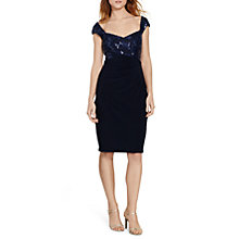 Buy Lauren Ralph Lauren Yari Dress, Lighthouse Navy Online at johnlewis.com