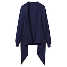Buy Joules Eriesta Longline Waterfall Cardigan, French Navy Online at johnlewis.com