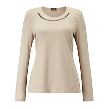 Buy Gerry Weber Embellished Jersey Top Online at johnlewis.com