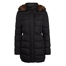 Buy Gerry Weber Hooded Quilted Coat, Black Online at johnlewis.com