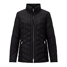 Buy Gerry Weber Quilted Padded Jacket, Black Online at johnlewis.com