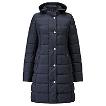 Buy Gerry Weber Hooded Quilted Coat, Navy Online at johnlewis.com