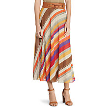 Buy Lauren Ralph Lauren Charnette Stripe Skirt, Multi Online at johnlewis.com