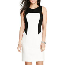 Buy Lauren Ralph Lauren Aletta Dress, White/Black Online at johnlewis.com