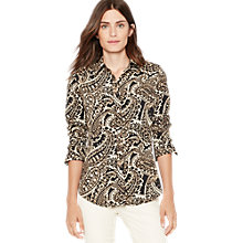 Buy Lauren Ralph Lauren Jamir Paisley Print Shirt, Black Multi Online at johnlewis.com