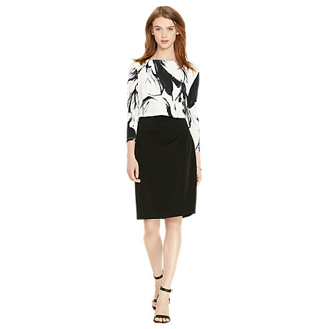 Buy Lauren Ralph Lauren Lenari Dress, Black/Grey Online at johnlewis.com ...