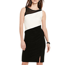 Buy Lauren Ralph Lauren Gail 2-Tone Dress, Lauren White/Black Online at johnlewis.com