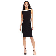 Buy Lauren Ralph Lauren Miguela Dress, Lighthouse Navy/Lauren White Online at johnlewis.com