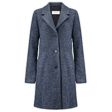 Buy Gerry Weber Single Breasted Boucle Wool Coat, Indigo Melange Online at johnlewis.com