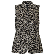 Buy Gerry Weber Faux Fur Gilet, Black Online at johnlewis.com