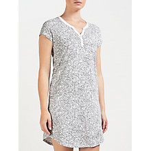 Buy John Lewis Olga Ditsy Floral Print Short Sleeve Night Dress, Grey/Ivory Online at johnlewis.com