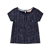 Buy Jigsaw Girls' Wave Spot T-Shirt, Navy Online at johnlewis.com