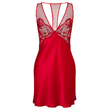 Buy Calvin Klein Underwear Black Embrace Lace Detail Chemise, Regal Sensuous Online at johnlewis.com