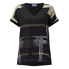 Buy Jigsaw Cyanograph Block Silk Top, Black Online at johnlewis.com