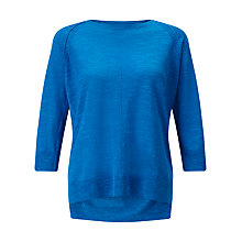 Buy Jigsaw Cotton Slub Three Quarter Sleeve Jumper Online at johnlewis.com