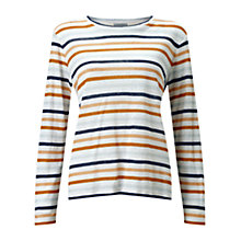Buy Jigsaw Linen Stripe Top, Multi Online at johnlewis.com