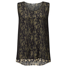 Buy Jigsaw Cyanograph Floral Top, Black Online at johnlewis.com