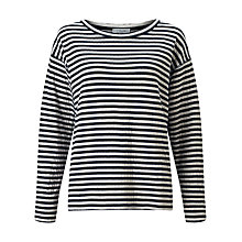Buy Jigsaw Double Faced Stripe Top, Ink Online at johnlewis.com