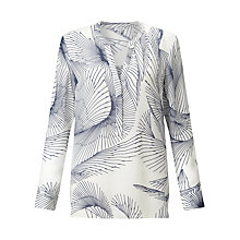 Buy Jigsaw Broken Glass Silk Blouse, Ivory Online at johnlewis.com