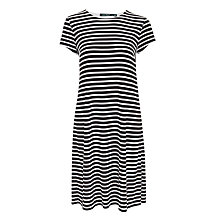 Buy Lauren Ralph Lauren Hiwalani Stripe Jersey Dress, Black/White Online at johnlewis.com